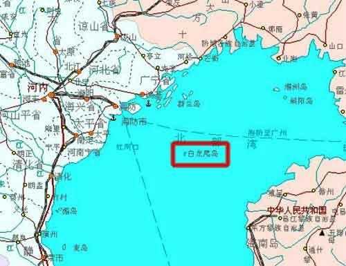 白龙尾岛原名夜莺岛,本属中国领土